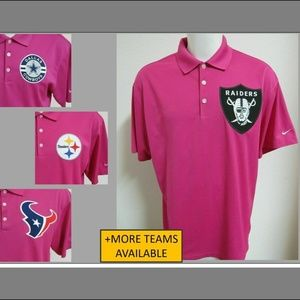 XL Pink Breast Cancer Nike Men db #373 Golf Polo